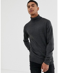 French Connection Plain 100% Cotton Roll Neck Jumper