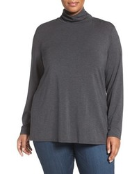 Plus size stretch modal turtleneck medium 793474