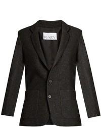 Raey Ry Long Line Speckled Tweed Blazer