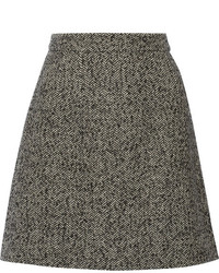 Charcoal Tweed Mini Skirt