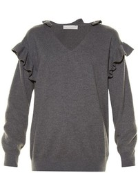 Stella McCartney Frill Trimmed Wool Sweater