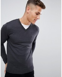 French Connection Plain Logo V Neck Knit Jumper