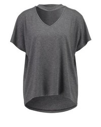 Only Onlkira Print T Shirt Dark Grey