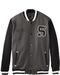 Charcoal Varsity Jacket