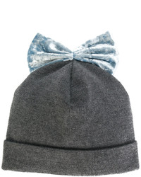 Velvet bow beanie medium 4470259