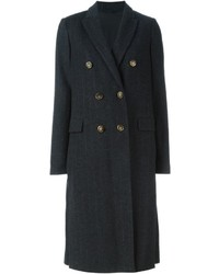 Charcoal Vertical Striped Coat