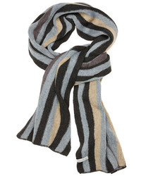 Charcoal Vertical Striped Scarf