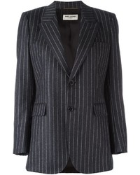 Saint Laurent Single Breasted Pinstripe Blazer