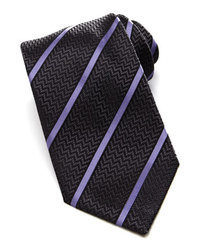 Charcoal Vertical Striped Tie