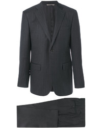 Charcoal Vertical Striped Wool Suit