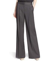 Nordstrom Signature And Caroline Issa Wide Leg Wool Suiting Trousers