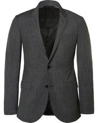 Charcoal slim fit mlange wool suit jacket medium 603040