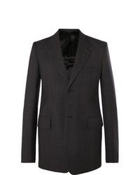 Balenciaga Dark Grey Checked Virgin Wool Blazer
