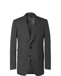 Tom Ford Dark Grey Shelton Slim Fit Super 120s Wool Suit Jacket