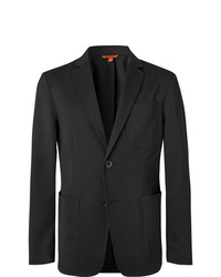 Barena Grey Prince Of Wales Checked Stretch Virgin Wool Suit Jacket