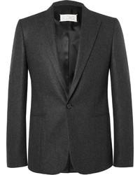 Grey slim fit wool flannel suit jacket medium 642296