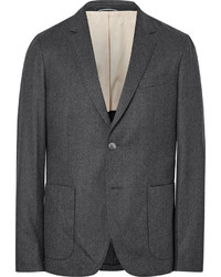 Gant Rugger Grey De Luxe Mlange Wool Flannel Suit Jacket