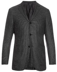 Ermenegildo Zegna Single Breasted Wool And Silk Blend Blazer