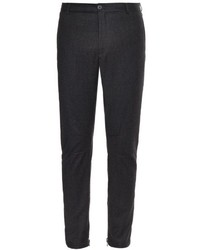 Lanvin Wool And Cashmere Blend Biker Trousers
