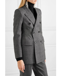 Balenciaga Hourglass Prince Of Wales Checked Wool Blazer