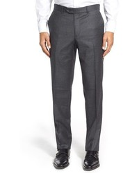 Nordstrom Flat Front Houndstooth Wool Trousers
