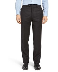 JB Britches Flat Front Solid Wool Cashmere Trousers