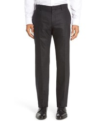 BOSS Genesis Flat Front Solid Stretch Wool Cashmere Trousers