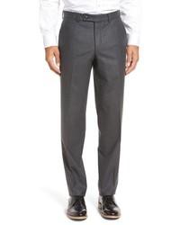 Ted Baker London Frobisher Flat Front Solid Wool Trousers