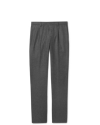 Loro Piana Slim Fit Mlange Wool And Cashmere Blend Drawstring Trousers
