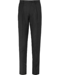 Wooyoungmi Slim Fit Tapered Pleated Wool Trousers