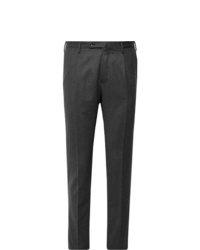 Incotex Urban Traveller Charcoal Slim Fit Tech Wool Blend Flannel Trousers