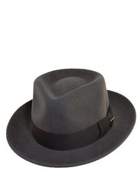 Classico wool felt fedora grey medium 231425