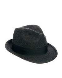 Asos Trilby Hat In Gray Wool