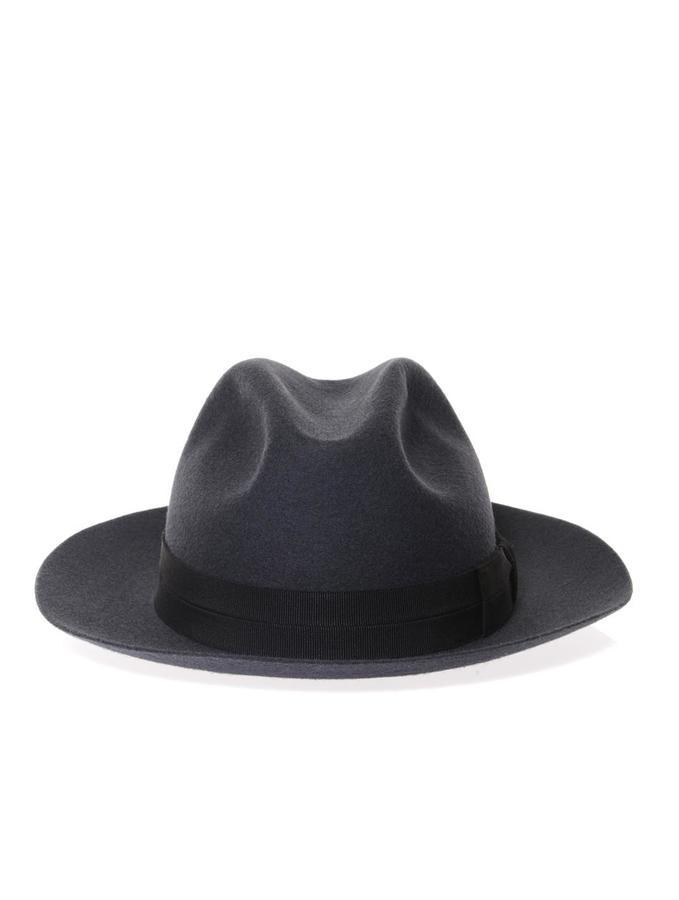 COM › Lanvin › Charcoal Wool Hats Lanvin Wool Fedora ... a2852f507a60