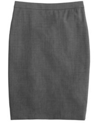 J.Crew Petite Pencil Skirt In Italian Two Way Stretch Wool