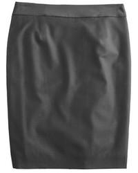 J.Crew Petite Pencil Skirt In Super 120s Wool