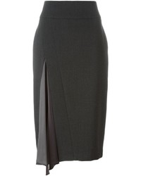 Brunello Cucinelli Pleated Detail Pencil Skirt