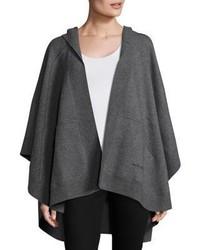 Charcoal Wool Poncho