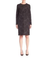 Charcoal Wool Shift Dress