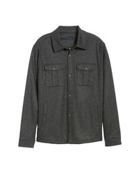 Charcoal Wool Shirt Jacket