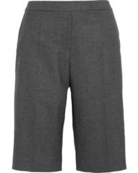 Gabatine stretch wool blend gabardine shorts medium 111949