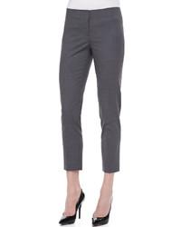 Charcoal Wool Skinny Pants