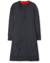 Charcoal Wool Swing Dress
