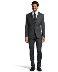 Charcoal Wool Three Piece Suit