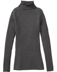 Charcoal Wool Turtleneck
