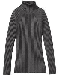 Charcoal Wool Turtleneck
