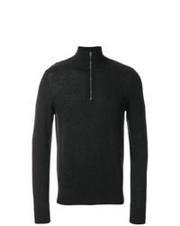 Burberry Zip Neck Cashmere Cotton Sweater