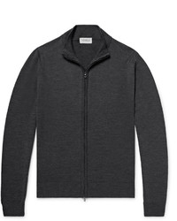 John Smedley Claygate Merino Wool Zip Up Cardigan