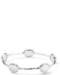 Ippolita Five Stone Bangle In Clear Quartz