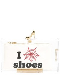 Charlotte Olympia Pandora Loves Shoes Clutch